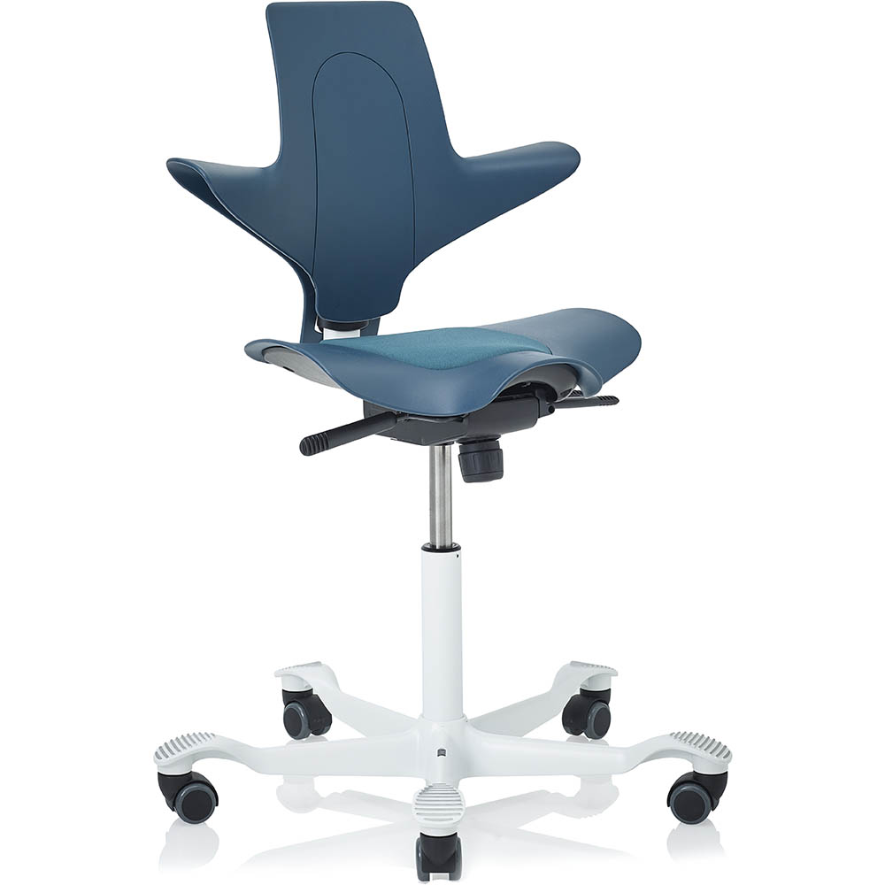 Stupendous Hag Capisco Puls 8010 Saddle Chair Petroleum White Office Onthecornerstone Fun Painted Chair Ideas Images Onthecornerstoneorg