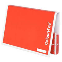 COLOURHIDE MY HANDY DOCUMENT BOX A4 RED