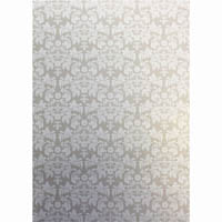 CUMBERLAND PRINTED PAPER DAMASK DESIGN A4 CREAM PACK 10