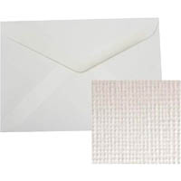 CUMBERLAND C6 LINEN ENVELOPES 114 X 162MM WHITE PACK 15