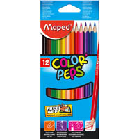 MAPED COLOR PEPS COLOUR PENCIL ASSORTED BOX 12