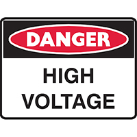 BRADY DANGER SIGN HIGH VOLTAGE 450 X 300MM POLYPROPYLENE
