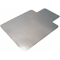 MARBIG TUFFMAT CHAIRMAT POLYCARBONATE KEYHOLE 1200 X 1500MM CLEAR