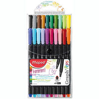 MAPED GRAPH PEPS FINELINER ASSORTED WALLET 20