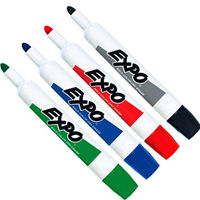 EXPO WHITEBOARD MARKER BULLET TIP WALLET 4