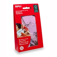 APLI STRUNG TICKETS 22 X 35MM PINK PACK 100