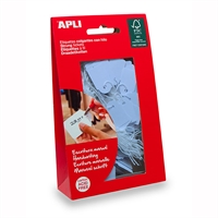APLI STRUNG TICKETS 22 X 35MM BLUE PACK 100