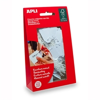 APLI STRUNG TICKETS 22 X 35MM WHITE PACK 100