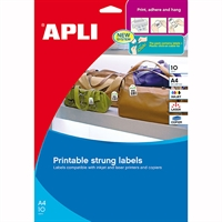 APLI STRUNG TICKETS PRINTABLE SHEETS 28 X 43MM A4 PACK 10
