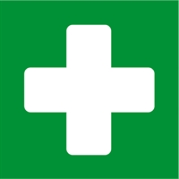 APLI FIRST AID SELF ADHESIVE SIGN 114 X 114 MM