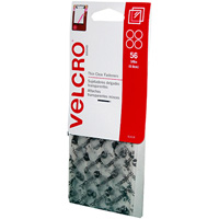 VELCRO BRAND STICK-ON HOOK AND LOOP DOTS 9MM CLEAR PACK 56