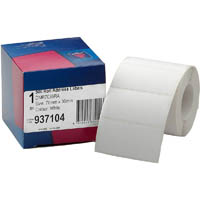 AVERY 937104 ADDRESS LABEL 70 X 36MM ROLL WHITE BOX 500