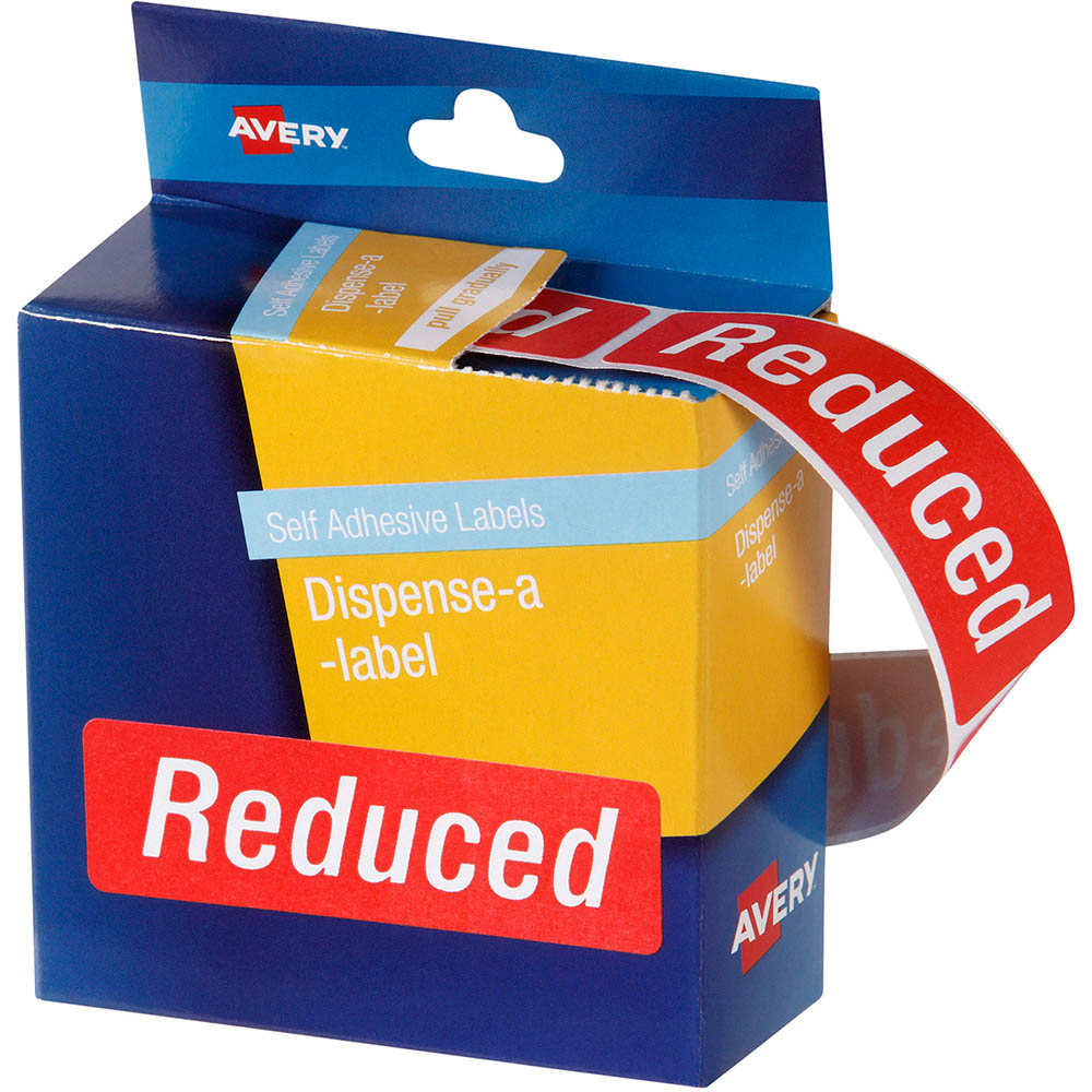 avery 937320 message labels reduced 64 x 19mm red pack 250 office