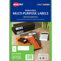 AVERY 959152 L7157REV REMOVEABLE MULTI-PURPOSE LABEL 33UP WHITE PACK 25