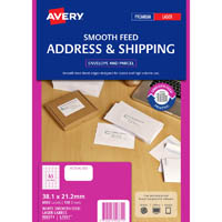AVERY 959371 L7651 LASER LABEL SMOOTH FEED WHITE PACK 100