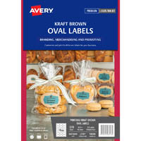 AVERY 980018 L7103 OVAL LABEL KRAFT BROWN PACK 270