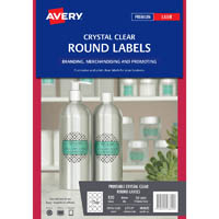 Round Clear Labels