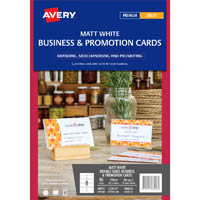 AVERY 980026 C32071 BUSINESS CARD 260GSM 85 X 54MM WHITE PACK 100