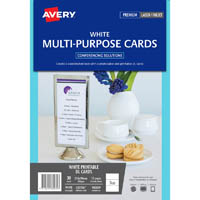 AVERY 980039 C32296 MULTI-PURPOSE EVENT CARDS INKJET LASER 3UP DL PACK 10