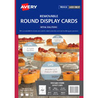 AVERY 980049 16153 REMOVABLE ROUND DISPLAY CARDS PACK 32