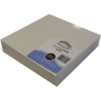 RAINBOW SQUARE CARD 300GSM 203 X 203MM WHITE PACK 100