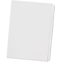 DOCUDEX INDEX DIVIDER MANILLA REVERSE COLLATED 1-10 TAB UNPUNCHED 150GSM A4 WHITE BOX 25