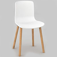 DAL ACTI WOODEN 4-LEG CHAIR WHITE
