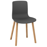 DAL ACTI WOODEN 4-LEG CHAIR CHARCOAL