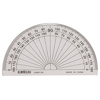 CELCO PROTRACTOR 180 DEGREES 100MM
