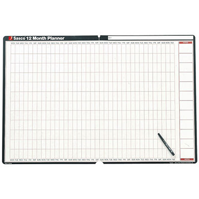 sasco wall planner 12 month undated office national