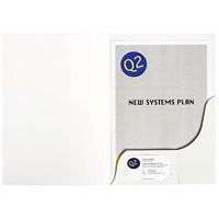 MARBIG PRESENTATION FOLDER A4 GLOSS WHITE PACK 20
