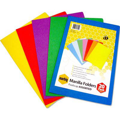 Coloured Manilla Folders