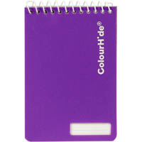 COLOURHIDE MY POCKET NOTEBOOK 96 PAGE 112 X 77MM ASSORTED