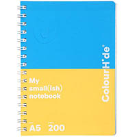 COLOURHIDE MY SMALL NOTEBOOK A5 200 PAGE ASSORTED