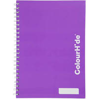 COLOURHIDE MY TRUSTY HARDCOVER NOTEBOOK 160 PAGE A5 PURPLE