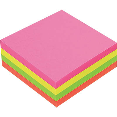 Image for MARBIG CUBE NOTES 320 SHEETS 75 X 75MM ASSORTED RAINBOW from Office National Perth CBD