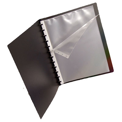 MARBIG PRO SERIES DISPLAY BOOK REFILLABLE A4 BLACK