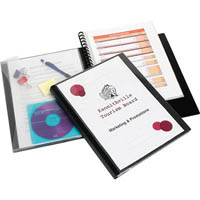 MARBIG PRO SERIES DISPLAY BOOK WITH WALLET A4 BLACK