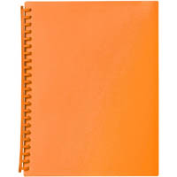 MARBIG DISPLAY BOOK REFILLABLE 20 POCKET A4 ORANGE