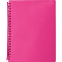 MARBIG DISPLAY BOOK 20 POCKET A4 PINK