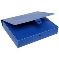 MARBIG BOX FILE BUTTON CLOSURE 60MM A4 BLUE