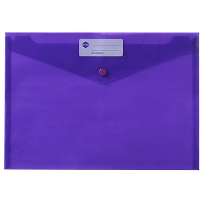 Image for MARBIG DOCULOPE WALLET BUTTON CLOSURE A4 PURPLE from Paul John Office National