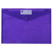 MARBIG DOCULOPE WALLET BUTTON CLOSURE A4 PURPLE