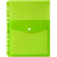 MARBIG BINDER POCKET TOP OPENING A4 LIME