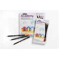 DERWENT ACADEMY PENCILS COLOUR TIN 36