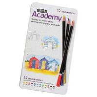 DERWENT ACADEMY PENCIL COLOUR TIN 12