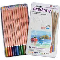 DERWENT PENCILS ACADEMY WATERCOLOUR TIN 12