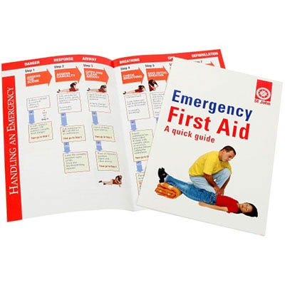 Image for ST JOHN EMERGENCY FIRST AID QUICK GUIDE BOOK from PaperChase Office National