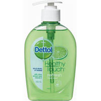 DETTOL REFRESH ANTI-BACTERIAL LIQUID HAND WASH LEMON AND LIME 250ML PUMP
