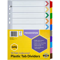 MARBIG DIVIDER 10-TAB REINFORCED A4 ASSORTED